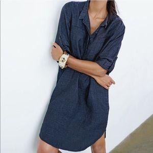 Eileen Fisher organic linen Henley dress